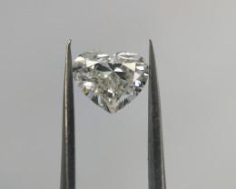 GIA Certified Diamond , Heart Brilliant Cut , Valentine's Day Gift , 0.44 c