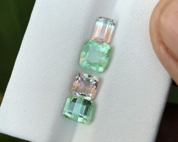 3.70 Ct Natural Bi Color & Green Transparent Tourmaline Gems Parcels