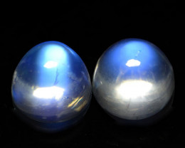 4.51Cts Unseen Natural Royal Blue Moonstone Round Cab 7mm
