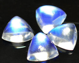 5.82Cts Unseen Natural Royal Blue Moonstone Trillion Cab 7mm
