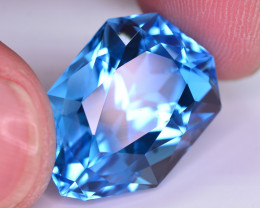 Stunning 33.60 Ct Natural Blue Topaz Gemstone