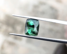 2.15 Ct Natural Dark  Green Transparent Tourmaline Gemstone