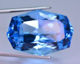 Stunning  58.65 Ct Natural Blue Topaz Gemstone