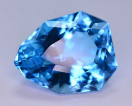 Stunning 27 Ct Natural Blue Topaz Gemstone