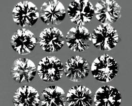 2.30 mm Round 16 pcs 1.00cts White Sapphire [VVS]