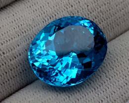 22.65CT BLUE TOPAZ BEST QUALITY GEMSTONE IIGC98