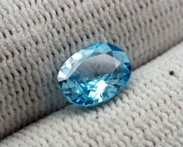1.55CT BLUE ZIRCON BEST QUALITY GEMSTONE IIGC98