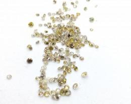 3.95ct Fancy  Color  Diamond Parcel , 100% Natural Untreated