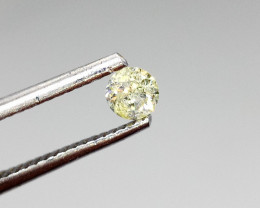 0.26ct Fancy Light  Yellow  Diamond , 100% Natural Untreate