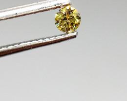 0.16ct Fancy  Yellow Green  Diamond , 100% Natural Untreate