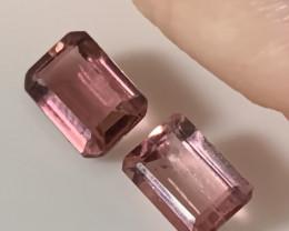 Pink Tourmaline Gem Pair No Reserve