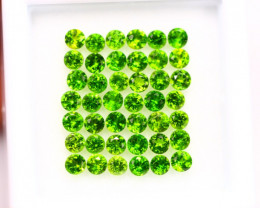 3.15Ct Natural Chrome Diopside Round Cut 2.5mm Lot B1237