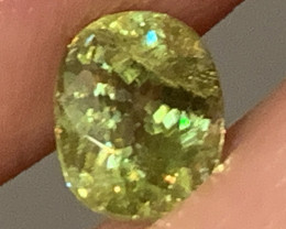 FLASHING LIME YELLOW SPHENE - NO RESERVE
