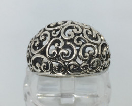 Sterling Silver Filigree Ring Exquisite Quality !