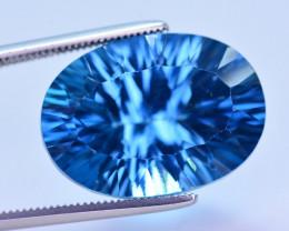 Stunning 17.40  Ct Natural London Blue  Topaz Gemstone