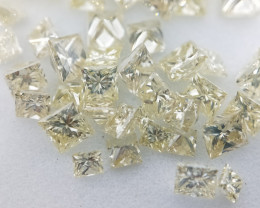 Assorted Fancy Yellow Princess Cut Diamond ,Mix Size  1.00 cts , 1 mm to 3m