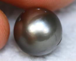 11.30MM 10.25Ct Australian South Sea Salt Black Pearl A2522