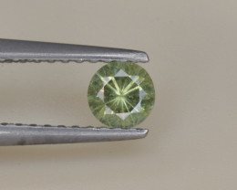 Natural Demantoid Garnet 0.28 Cts, Full Sparkle Faceted Gemstone