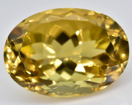 13.84 Crt Natural Citrine Faceted Gemstone.( AB 30)