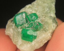 Natural Green SWAT emerald Crystals Cluster Specimen From Pakistan