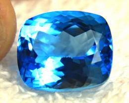 16.58 Ct. Blue Brazilian VVS Blue Topaz - Gorgeous