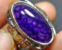 77.45 CT Beautiful Purple Dragon Skin Agate Jewelry Ring