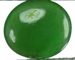 ~UNTREATED~ 1.40 Cts Natural Green Jade Cabochon Burmese Gem
