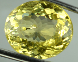 3.04 Cts Natural Canary Yellow Apatite Oval Cut Brazil