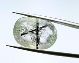 Amazing Natural Quartz have inside Black Tourmaline Holy Crsoss  12.5Cts-P