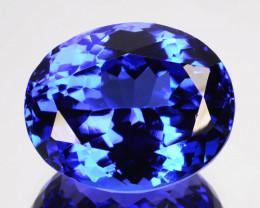 10.77 Cts Ultimate Natural Purple Blue Tanzanite Oval Tanzania Gem