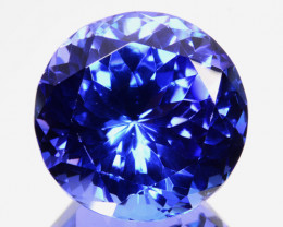 12.93Cts Natural Purple Blue Tanzanite 14mm Round  Tanzania Gem