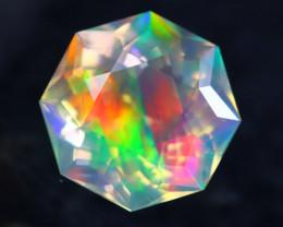 Fire Opal 3.00Ct Bright Rainbow Color Ethiopian Welo Master Cut Opal AN06