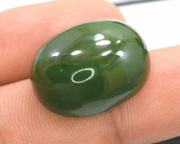NR - 31.35 Carats Natural Oval Shape Top Grade Color Nephrite