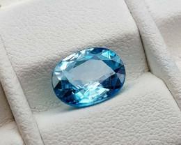 2.45Crt Blue Zircon Natural Gemstones JI811