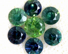 0.92 -CTS Australian Sapphire Faceted Parcel( 7 pcs)  PG-3303