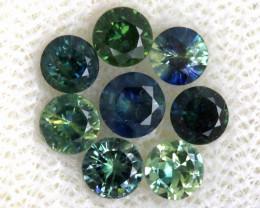 1.18-CTS Australian Sapphire Faceted Parcel( 8 pcs)  PG-3304