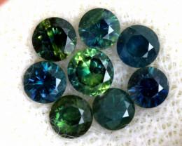 1.19-CTS Australian Sapphire Faceted Parcel( 8 pcs)  PG-3305