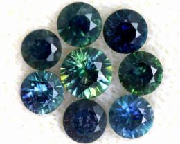 1.08-CTS Australian Sapphire Faceted Parcel( 8 pcs)  PG-3306