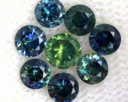 1.02-CTS Australian Sapphire Faceted Parcel( 8 pcs)  PG-3307