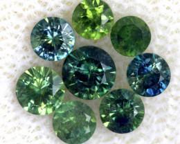 1.10-CTS Australian Sapphire Faceted Parcel( 8 pcs)  PG-3308