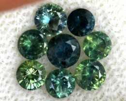 1.12-CTS Australian Sapphire Faceted Parcel( 8 pcs)  PG-3310