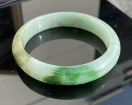 60mm Natural type A jadeite bangle