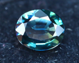 Sapphire 0.96Ct Natural Peacock Blue Sapphire D2714
