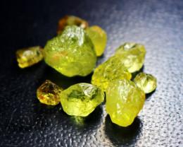 25.80 CT Natural Demontoid Green Garnet Rough Lot
