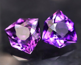 Uruguay Amethyst 6.51Ct 2Pcs Natural Uruguay Top Color Master Cutting A2709