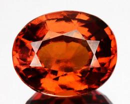 2.55 Cts Natural Cinnamon Orange Hessonite Garnet Oval Sri Lanka