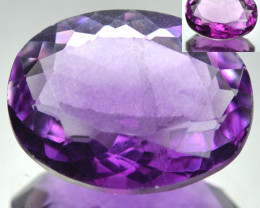 4.62 Cts Natural Purple Fluorite Oval Cut Afghanistan
