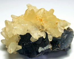 Amazing Natural Damage free  Fluorite combine with lovely Calcite 220 Cts-P