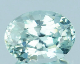 1.58 Cts Natural Silver Blue Zircon Oval Cut Cambodia