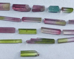 22.70 Carats Multi Color Natural Tourmaline Crystals From Paprok Afghanista